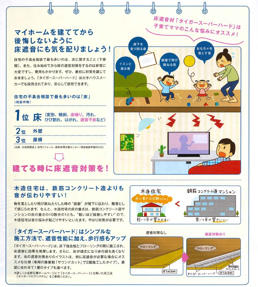 床遮音の重要性【高気密・高断熱・高遮熱の家】 (3)
