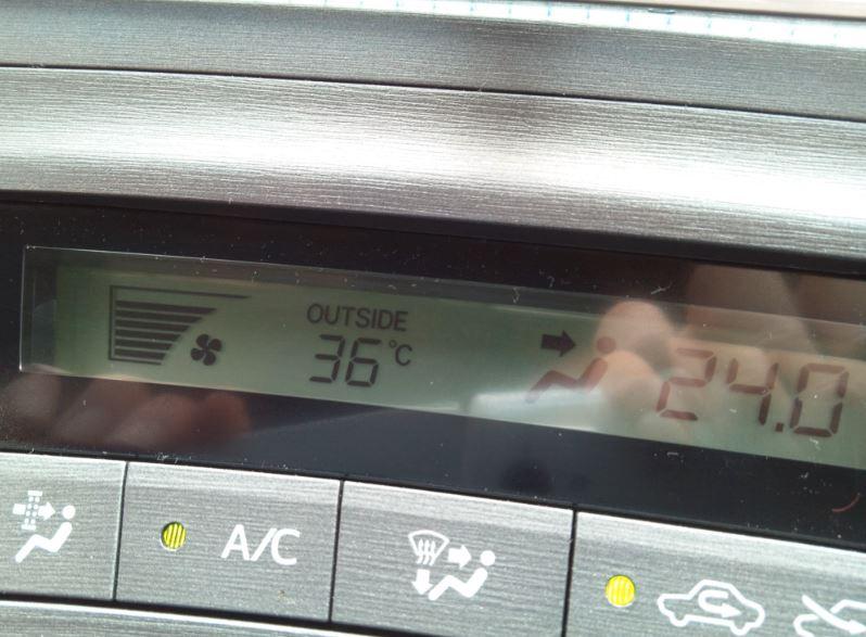 【高気密・高断熱・高遮熱の家】外気温度